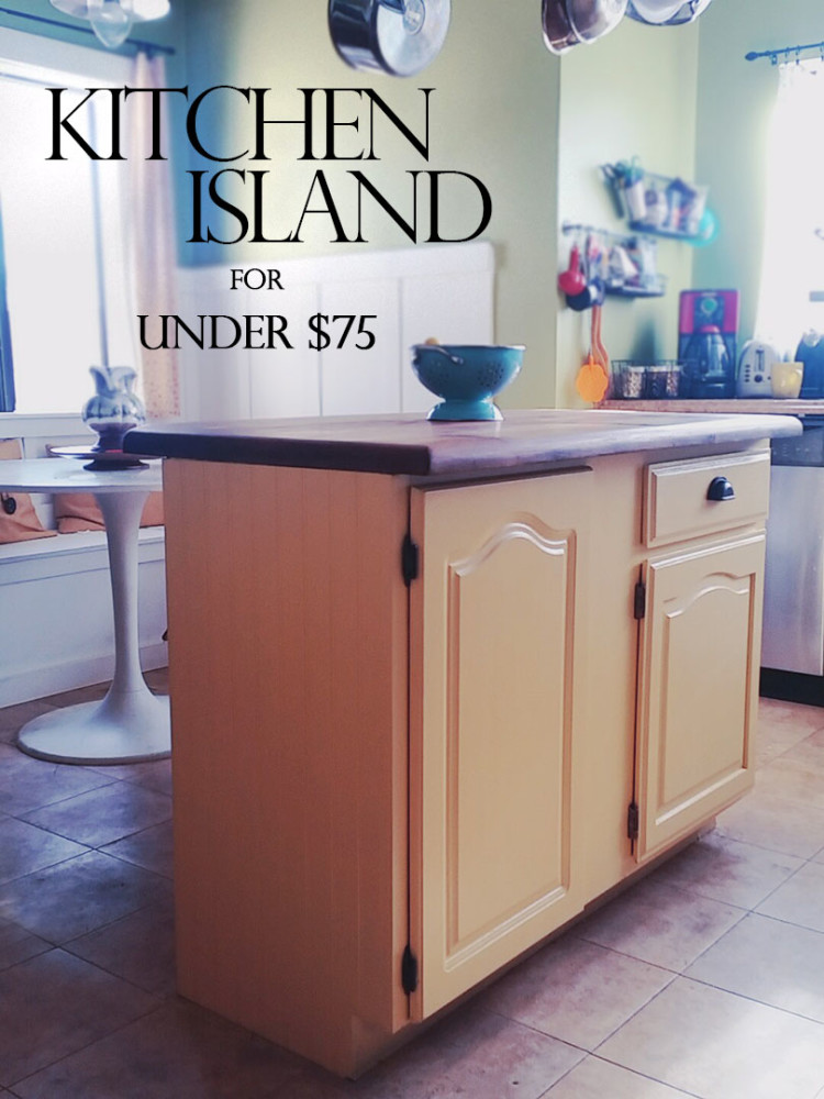 Upcycled Kitchen Cabinet To DIY Kitchen Island