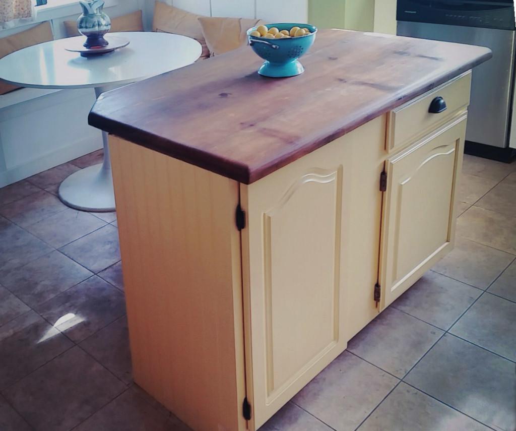 Upcycled Kitchen Cabinet To DIY Kitchen Island
