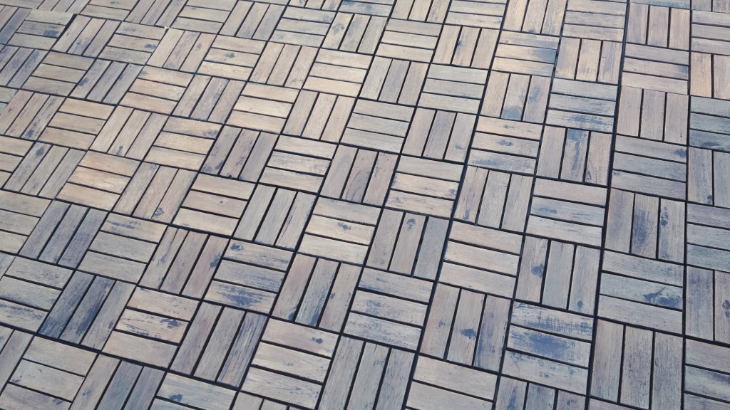 ikea deck tiles with new stain behr chocolate